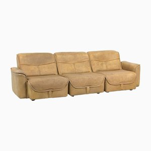 Modulares 3-Sitzer Sofa aus Büffelleder, 1970er
