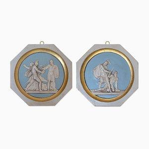 Wandmedaillons mit griechischen Krieger-Motiven von Cupioli Luxury Living, 2018, 2er Set