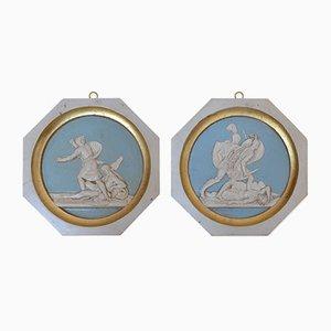 Medallones de pared de guerreros griegos de Cupioli Luxury Living, 2018. Juego de 2