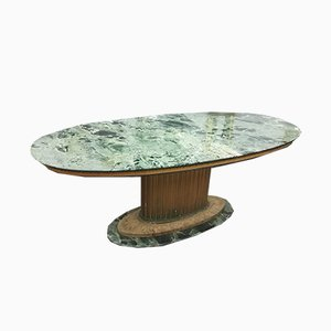Oval Antique Style Marble Table, 1970s