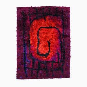 Rya Teppich mit Feuer-Muster von Ege Rya, 1960er