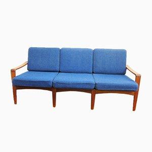 3-Sitzer Sofa mit Gestell aus Teak von Arne Wahl Iversen für Komfort, 1960er