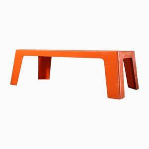 Vintage Orange Fiberglass Garden Table, 1970s