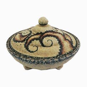 Kleine italienische Keramikdose von Spica, 1950er