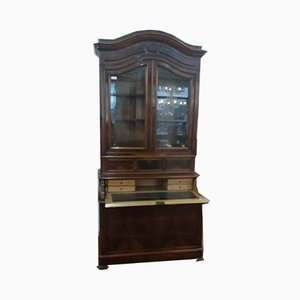 Antique Walnut & Glass Cabinet