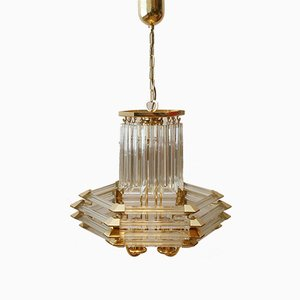 Glass Tube Chandelier from Bakalowits & Söhne, 1970s