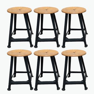 Vintage Stools, 1950s, Set of 6