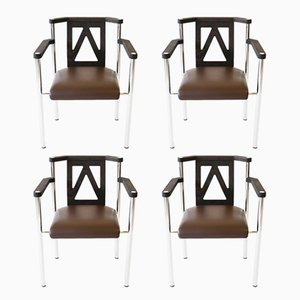German Armchairs from Kusch+Co, 1980s, Set of 4