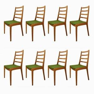 Chaises de Salle à Manger Mid-Century en Teck de Farso Stolefabrik, 1960s, Set de 8