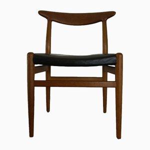 Chaise W2 Vintage par Hans J. Wegner pour CM Madsen