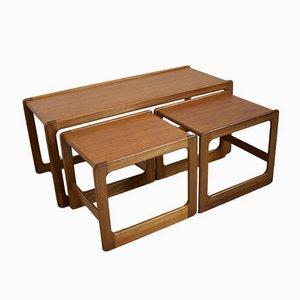 Tavolini ad incastro Mid-Century in teak di McIntosh, anni '60