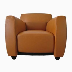 Leather Club Chair by M. Wolf & J.M. Da Costa for Wittmann, 1990s