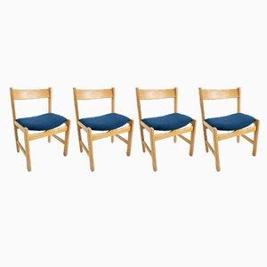 Vintage Esszimmerstühle von Hans J. Wegner für Getama, 1960er, 4er Set