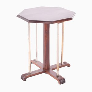 Art Deco Side Table with Metallic Supports