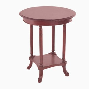 English Mahogany Side Table, 1920s
