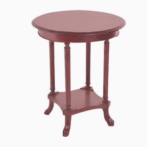 English Mahogany Side Table, 1920s