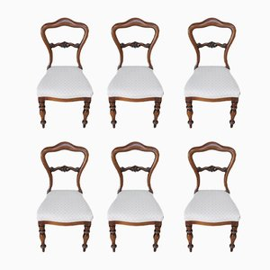 Antique Rosewood Dining Chairs, Set of 6