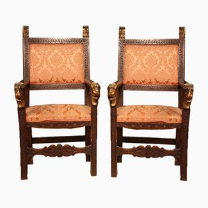 19th Century Italian Armchairs, Set of 2