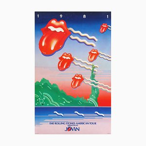 Affiche de Tournée The Rolling Stones par Doug Johnson, 1981