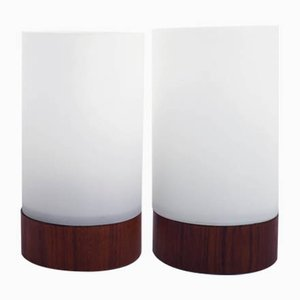 Danish Abat-Jours Table Lamps, 1960s, Set of 2