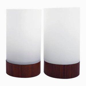 Lámparas de mesa Abat-jours danesas, años 60. Juego de 2