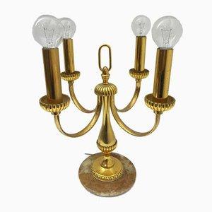 Tisch- oder Deckenlampe aus Messing im Regency-Stil, 1980er