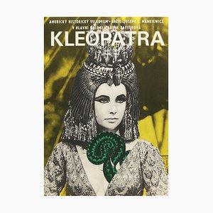 Póster checo de la película Cleopatra de Jiri Hillmar, 1966