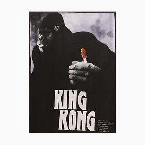 King Kong Czech Film Poster by Zdenek Vlach, 1989