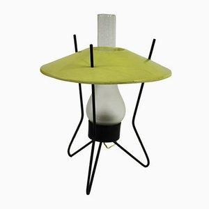 Lámpara de mesa trípode Mid-Century, años 50