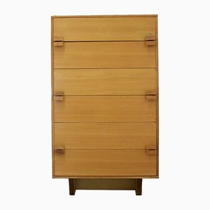 Light Teak Tallboy Chest of Drawers from Younger, 1960s