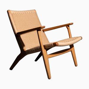 Vintage CH 25 Lounge Chair by Hans J. Wegner for Carl Hansen & Søn