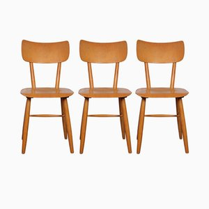 Mid-Century Czechoslovakian Chairs by TON, 1960s, Set of 3