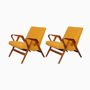 Vintage Lounge Chairs by František Jirák for Tatra, 1960s, Set of 2
