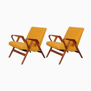 Vintage Lounge Chairs by František Jirák for Tatra, 1960s, Set of 2