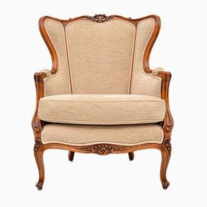 Französischer Sessel im Louis-Stil mit Gestell aus Nussholz