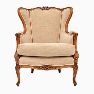 Vintage French Louis Style Walnut Armchair