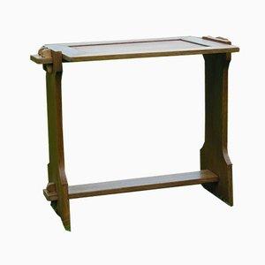 Mesa antigua pequeña de roble