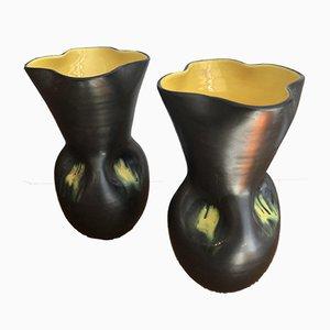 Vases Mid-Century par Elchinger, Set de 2
