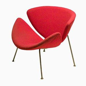 Orangener Slice Stuhl von Pierre Paulin für Artifort, 1960er