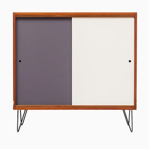 Teak Highboard with Colored Doors, 1960s