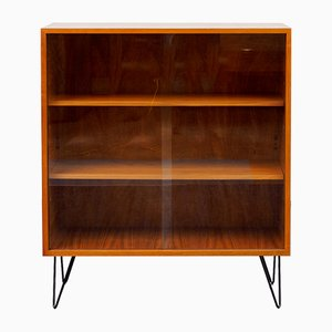 Walnut Showcase with Hairpin Legs, 1960s