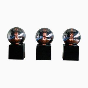 Lampes de Bureau avec Socle Carré de Philips, 1980s, Set de 3