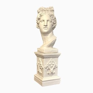 Vintage Bust on Plinth, 1980s