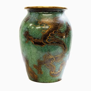 Large Ikora Dinanderie Dragon Vase by Paul Haustein for WMF, 1930s