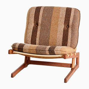 Dänischer Vintage Sessel mit Gestell aus Teak von Komfort, 1960er
