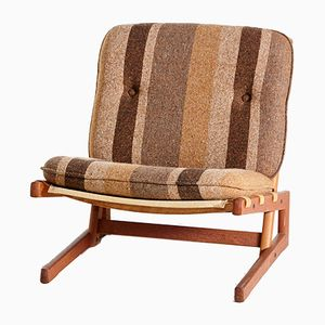 Vintage Danish Lounge Chair with Teak Base from Komfort, 1960s