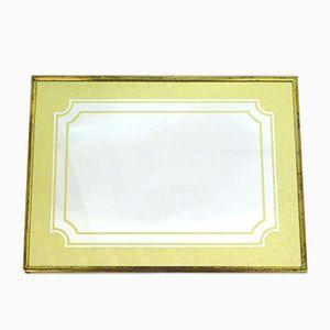 Goldfarbener Mid-Century Spiegel