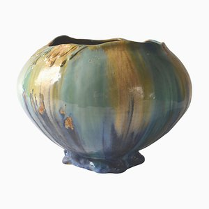 Belgian Art Nouveau Ceramic Vase, 1910s