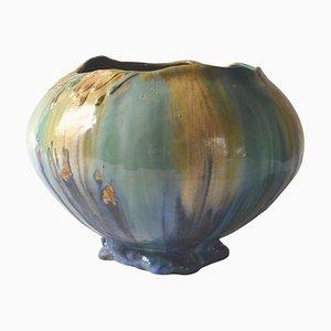 Vaso Art Nouveau in ceramica, Belgio, anni '10