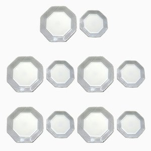 Vintage Arcopal Octagonal Plates from Arc, Set of 10